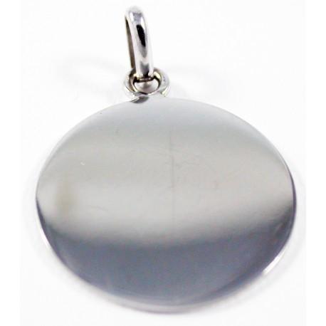 Médaille Jeton Or blanc 18 carats 750/1000 , diamètre 15 mm