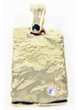 Pendentif Fusion Or jaune 18 carats 750/1000 et 1 Diamants 0.05 cts G/VS1