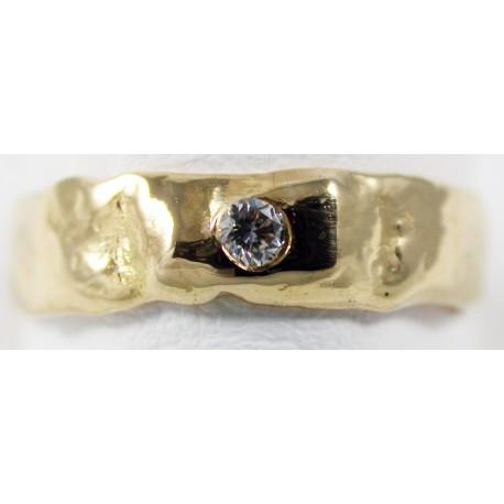 Alliance Fusion Or jaune 3N 18 carats 750/1000 et Diamant 0.05 carats G/VS1