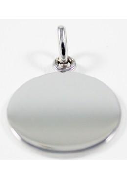 Médaille Jeton Or blanc 18 carats 750/1000 , diamètre 18 mm